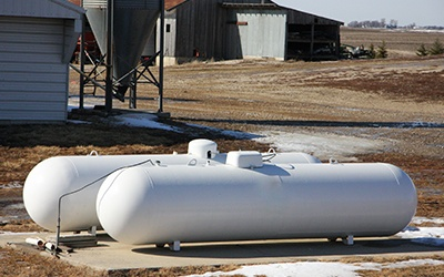 Propane Tanks Offer Comfort in an Iowa Winter